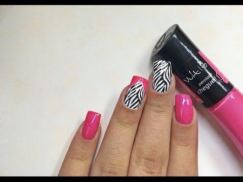Tutorial de unhas decoradas: Saran wrap   Unhas da Mari - YouTube