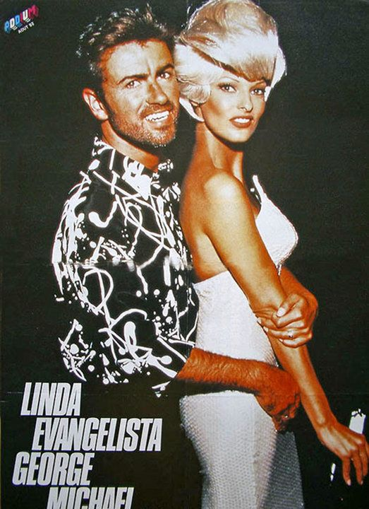 Linda with George Michael, 1992 | Supermodels | Pinterest ...