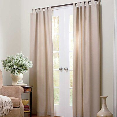 """Insulated Curtains-Patio Door- two 80"""" x 84"""" Panels - Natural - Improvements by Improvements. $87.95. Classic tab-top styling looks great in any room. Insulated curtains help prevent drafts so you can be more energy-efficient. Insulated curtains have a neutral look from outside. Insulated curtains help prevent drafts so you can be more energy-efficient. Classic tab-top styling looks great in any room. Insulated curtains have a neutral look from outside. Insulated Curtains..."""