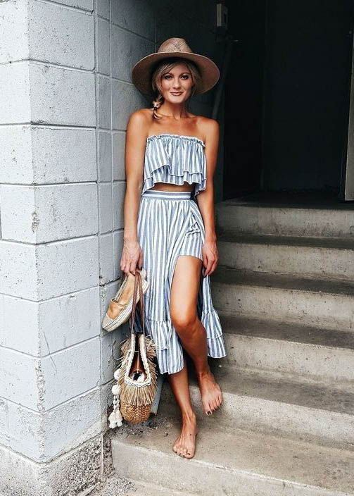 Two Piece Co Ord Set / Summer Fashion /