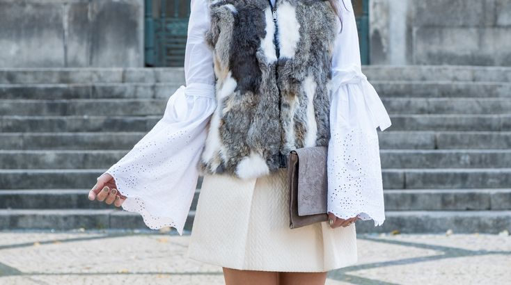 How to wear the fur vest in a romantic way -  #bellsleeves #black #Blouse #Boots #Bow #Brown #bugs #buttons #clutch #Earrings #embroidered #floral #Fur #Gold #Grey #H&M #Hoop #Mango #Primark #Sfera #Skirt #style #swissembroidered #taupe #Tips #Vest #white #Wool #zara