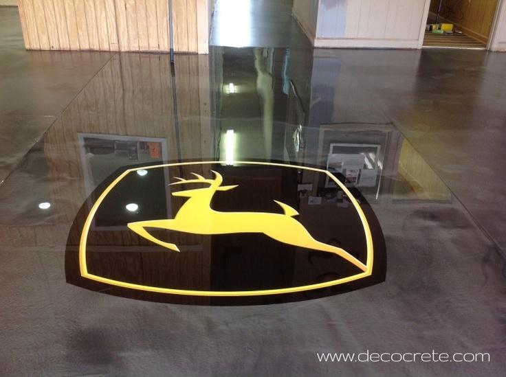 John Deer Logo W Gray Metallic Epoxy Flooring Repin