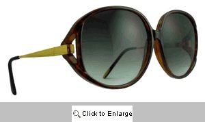 Temple Vintage Designer Sunglasses - 487 Tortoise