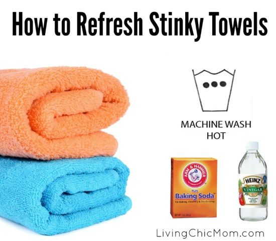 how to refresh stinky towels