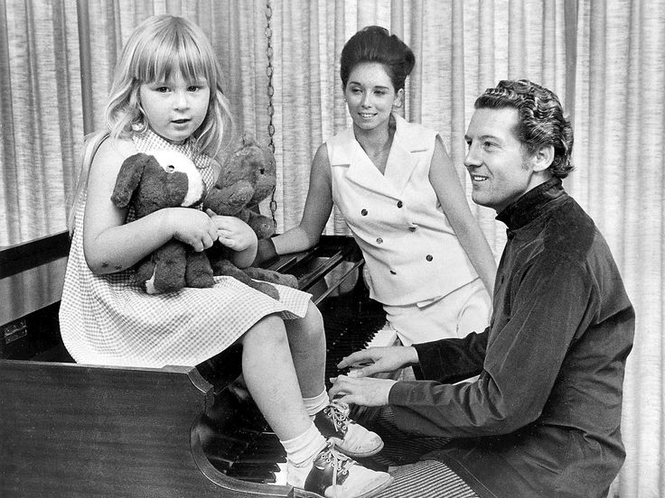 Jerry Lee Lewis, wife Myra Lewis, daughter Phoebe Lewis in a photograph dated July 2, 1968.