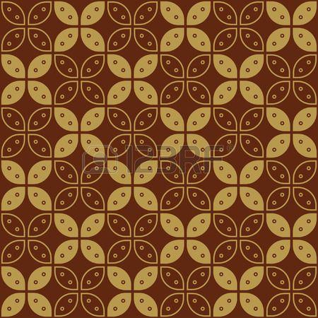 Javanese Batik Seamless Pattern - Set G Kawung Simplified Marquise Chain