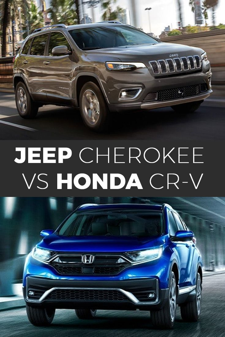2020 Jeep Cherokee Vs 2020 Honda Cr V In 2020 Jeep Cherokee Honda Cr Jeep