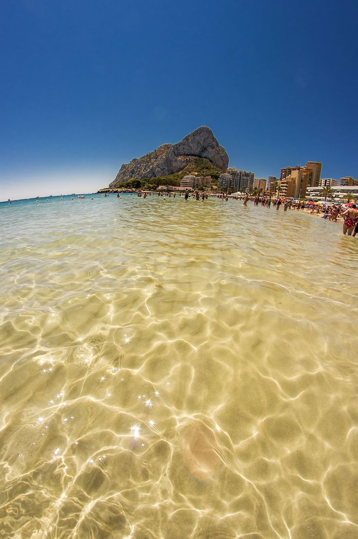 Blue sky and crystal clear waters. Your vacation can not get any better than this! www.wonderful-calpe.webs.com