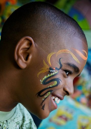 Face painting Dragon