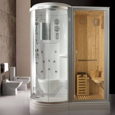 1000 id es sur le th me cabine de douche sur pinterest salles d 39 eau et - Cabine sauna hammam combine ...
