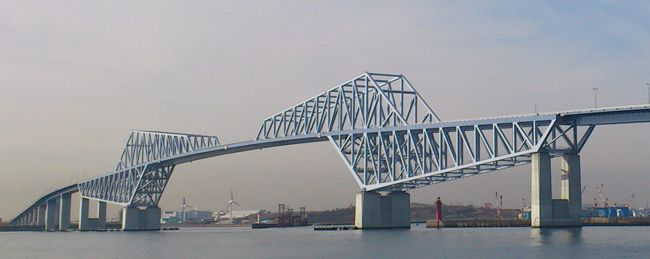 tokyo gate bridge is the world 39 s largest scale fully welded continuous truss bridge with a. Black Bedroom Furniture Sets. Home Design Ideas