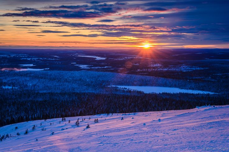 Ylläs Valley. Trek from hilltop to hilltop through the arctic fells along Finland's first hiking trail. Here you can enjoy hiking or skiing through the wilds, but still find welcoming lodgings for comfortable overnight stays in historic Lappish villages. This part of Lapland has the freshest air in Europe.