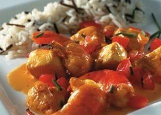 recepten: wokrecepten: kip met scampi in de wok