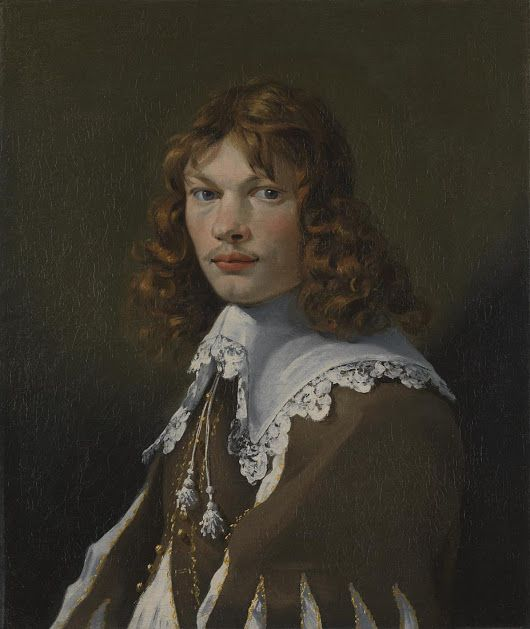 There is no documented portrait of the artist Karel Dujardin, but the face in...