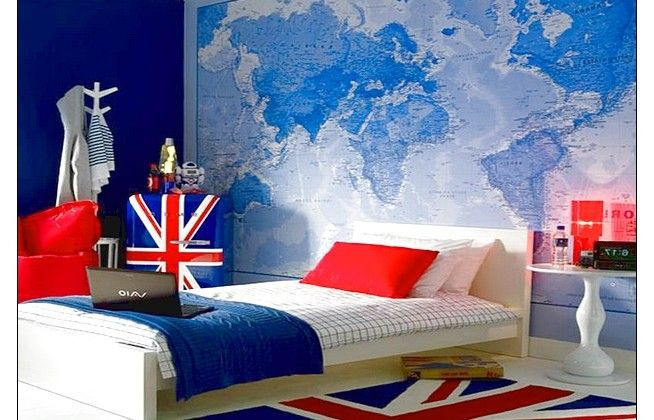 Awesome Wall Word Map And British Rug Boys Room Best Decoration