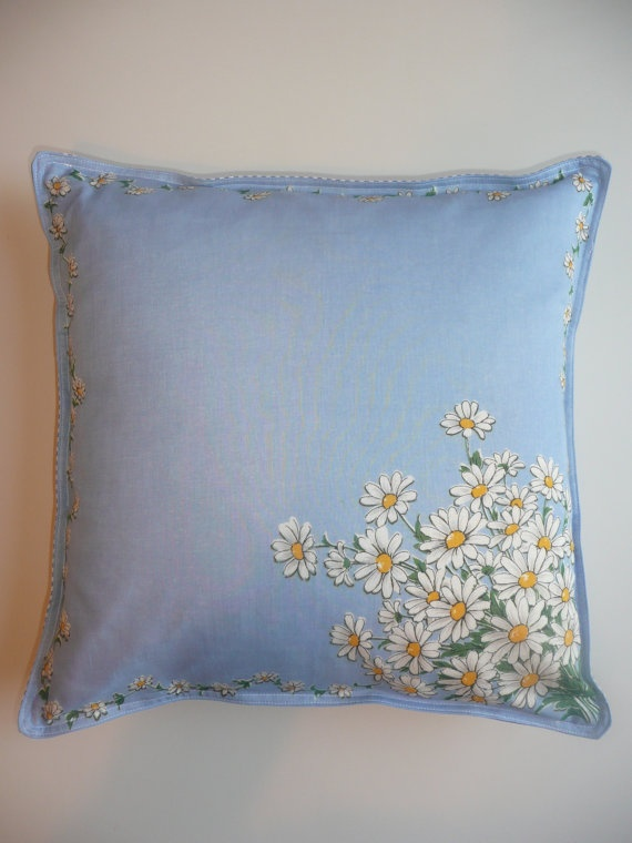 vintage hanky turn into cushion cover