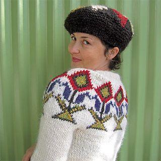 Knitting pattern: My Icelandic sweater   http://icelandicknitter.com/en/books/icelandic-knitting-using-rose-patterns/