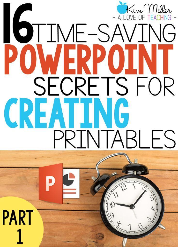 Best 25 powerpoint tips ideas on pinterest power point 16 time saving powerpoint secrets for creating printables part 1 toneelgroepblik Choice Image