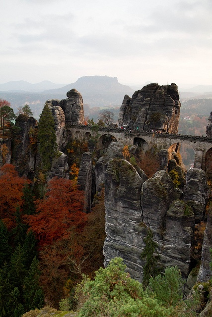 Bad Schandau, Saxony, Germany 1hour away from me and I remember how scared I was there as a kid although it is one of the most beautiful hiking trails I know :)