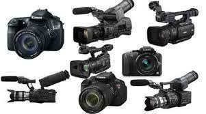 Algunas de las cámaras que a menudo se utilizan para filmar en los rodajes, reportajes o noticias