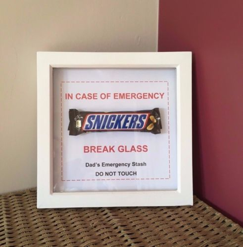 FATHER-039-S-DAY-Gift-NOVELTY-DAD-039-S-EMERGENCY-CHOCOLATE-FRAME-FATHER-039-S-DAY