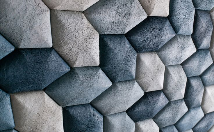 Acoustic tiles made from moulded Luffa. The indigo colour is achieved by reusing wastewater from the denim-dyeing industry.Luffalab