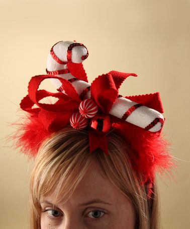 Look at this #zulilyfind! Candy Cane Headband #zulilyfinds Would be a funny addition to an ugly Christmas Sweater