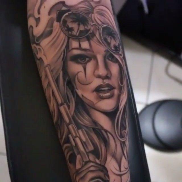 Amazing artist eric marcinizyn ericmarcinizyn chicano for Chicano clown girl tattoos