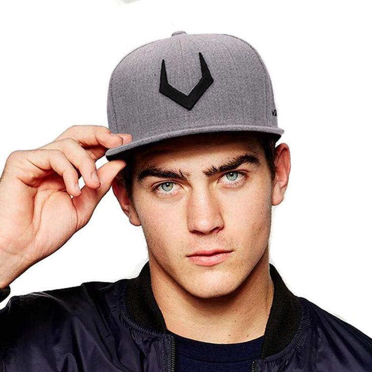 High quality grey wool snapback  3D pierced embroidery hip hop cap flat bill baseball cap for men and women