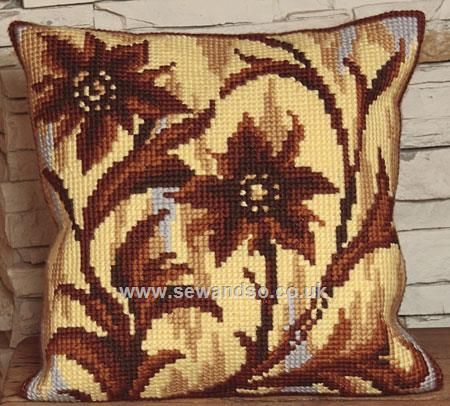 Buy Silhouette au Milieu Cushion Front Chunky Cross Stitch Kit Online at www.sewandso.co.uk