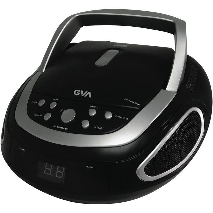 GVA GVACD1012A Portable CD Player AM/FM Radio at The Good Guys