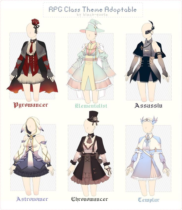 [CLOSED] RPG Class Theme Outfit Adopt #28 by Black-Quose.deviantart.com on @DeviantArt