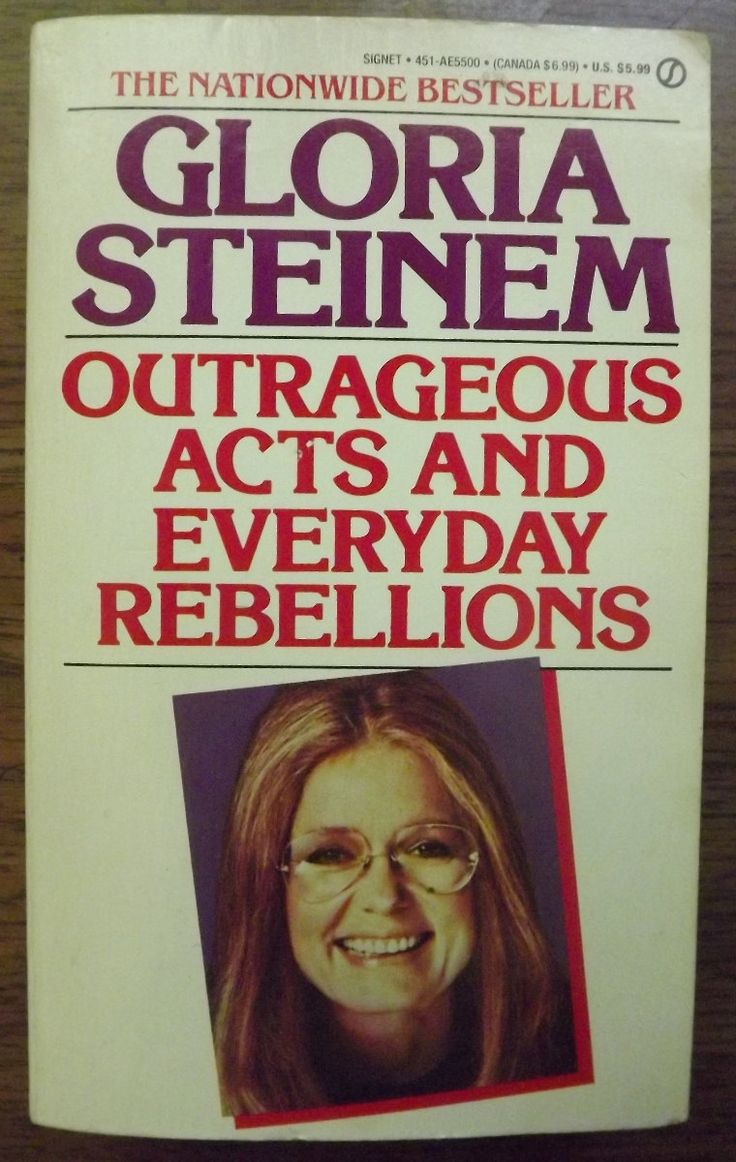 Signed Gloria Steinem Outrageous Acts Book by ParagonAlley on Etsy