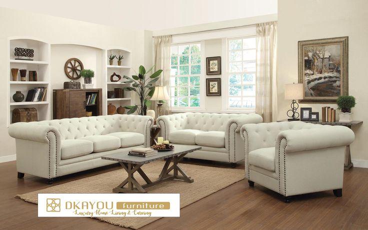 Set Sofa Tamu Modern Chesterfield Minimalis