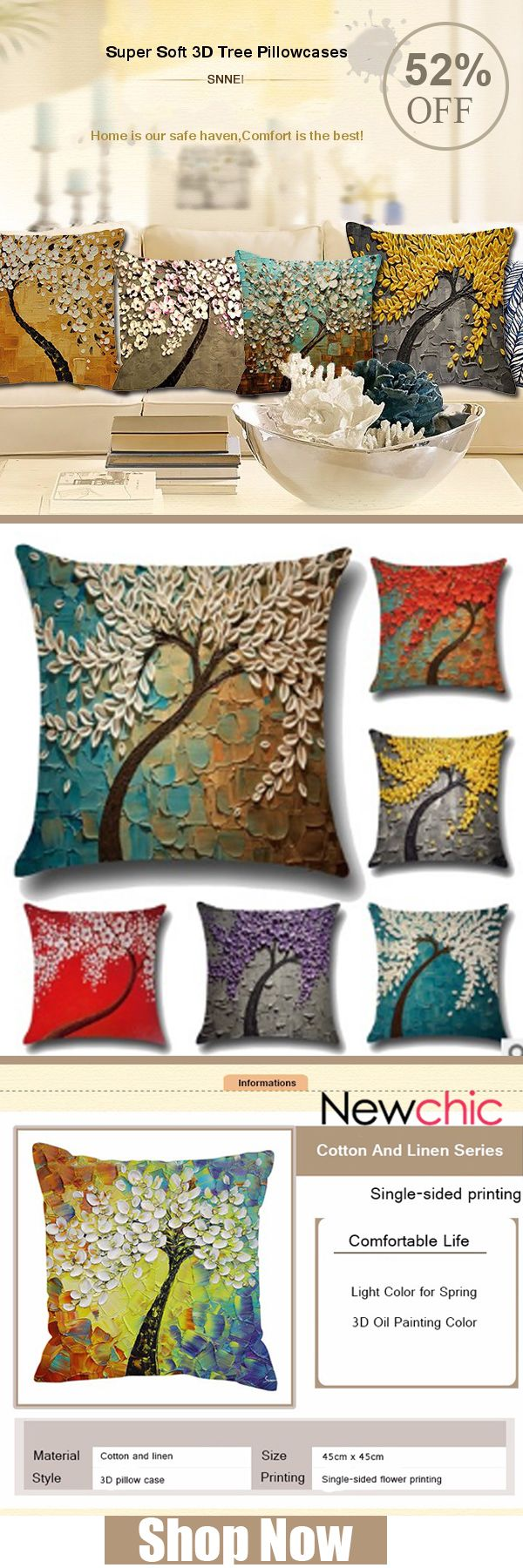 What to decor the living room? -- 20 Styles 3D Vintage Flower Cotton Linen Pillow Case Waist Cushion Cover Bags Home Car Deco#newchic#homedecor#living room