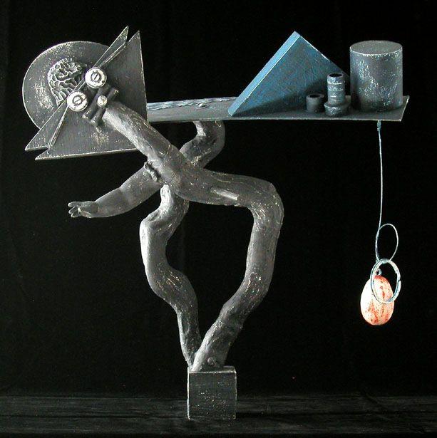 "Assembled Sculpture ""Title"""