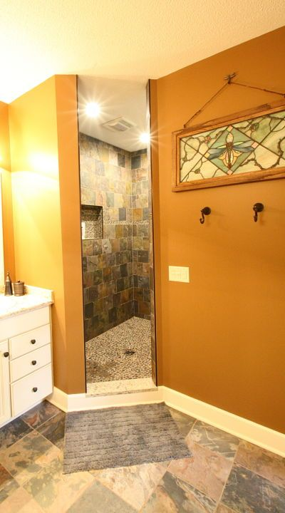 Master Bath Walk In Shower Without Doors By Mcclurg
