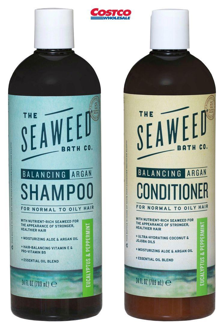 The Seaweed Bath Co. Natural Eucalyptus & Peppermint Balancing Argan Shampoo and Conditioner 24 FL OZ Each