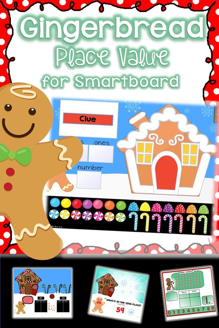 gingerbread place value smart board activities are perfect rh pinterest com Math Clip Art Place Value Chart