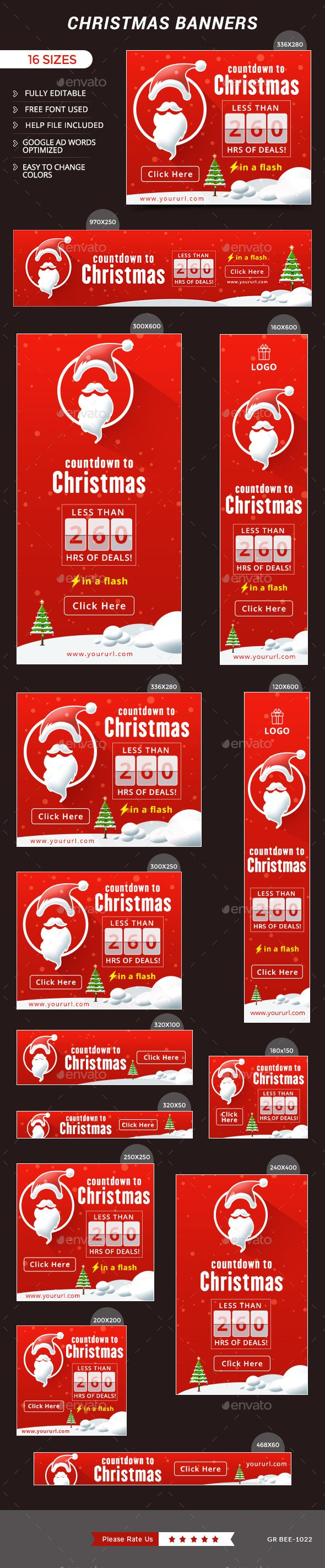 Christmas Web Banners Template PSD #design #xmas #ads Download: http://graphicriver.net/item/christmas-banners/13976994?ref=ksioks