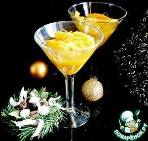Рождественский десерт из апельсинов для взрослых