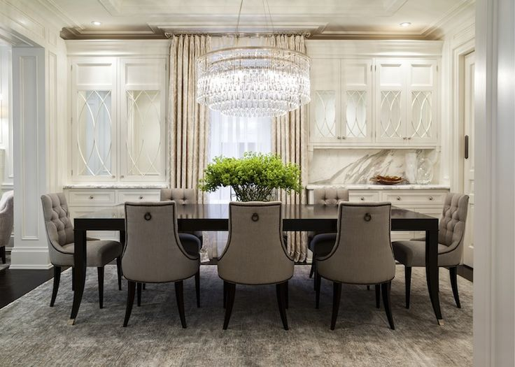 Jennifer Worts Design - dining rooms - Baker Furniture, tradition dining rooms, art deco chandeliers, dining room chandeliers, black dining ...