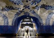 A maior exibição de arte do mundo fica no Metrô de Estocolmo