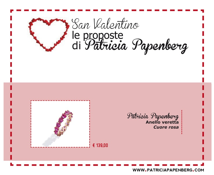 Anello veretta Patricia Papenberg 'Cuore Rosa'  http://www.patriciapapenberg.com/it/ring-eternity-patricia-papenberg-red-earth-small  #gioielli #ring #anello #jewels