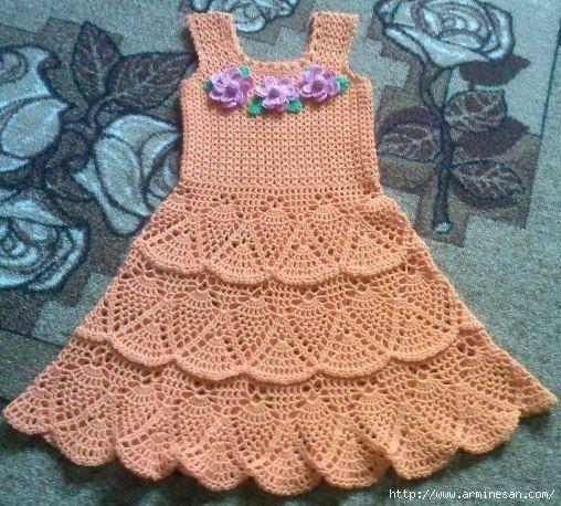 Vestido de niña   Manualidades