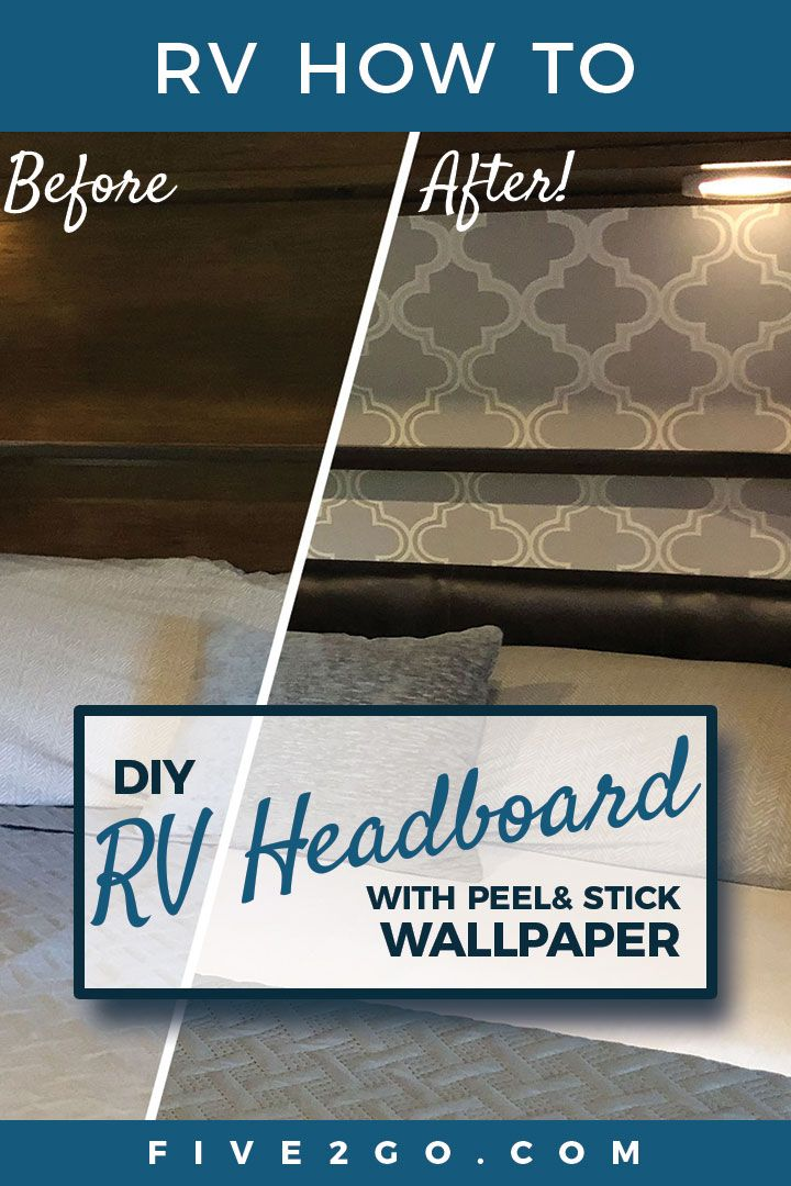 We Did The Peel And Stick Wallpaper From Target Behind Our Bed In The Slide Out We Love It Also We Got Camper Living Camper Interior Design Camper Interior