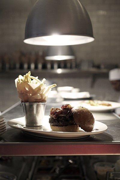 """Tyler Florence's Wayfare Tavern Restaurant in SF. This is the Burger """"Le Grand"""""""