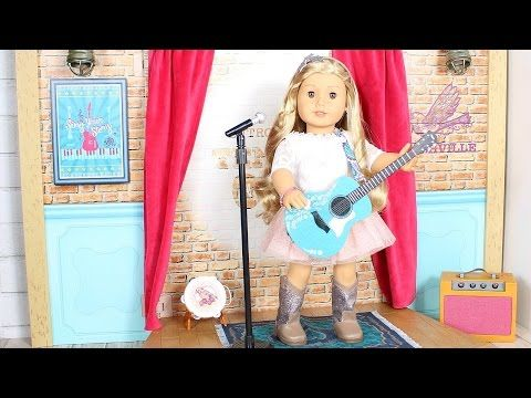 American Girl Doll Tenney's Stage & Dressing Room Review - YouTube