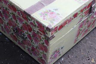 Блог Печеньки: Реставрация сундука. La vie en rose :-)