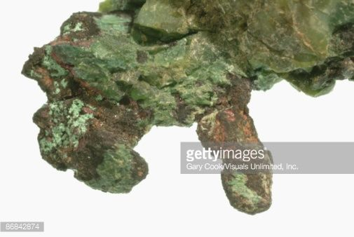 Mineral Copper, Copper with serpentine, Williams Stone Quarry, Goonhilly Downs, Lizard,